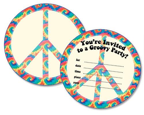 Free Printable Peace Sign Birthday Invitations \u2014 Printable Treats