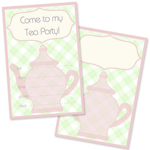 Free Tea Party Invitation Template \u2014 Printable Treats
