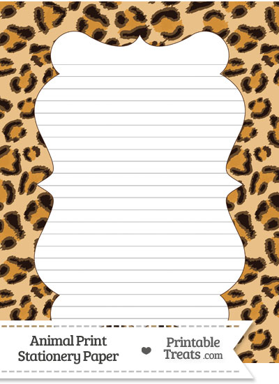 Leopard Print Stationery Paper \u2014 Printable Treats - print writing paper