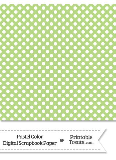 Pastel Light Green Polka Dot Digital Scrapbook Paper \u2014 Printable