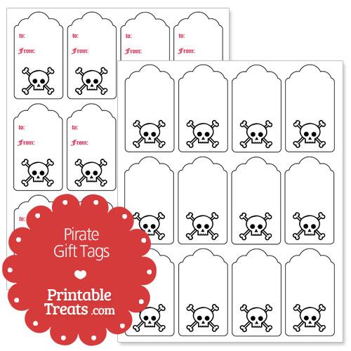 Pirate Gift Tags Printable \u2014 Printable Treats