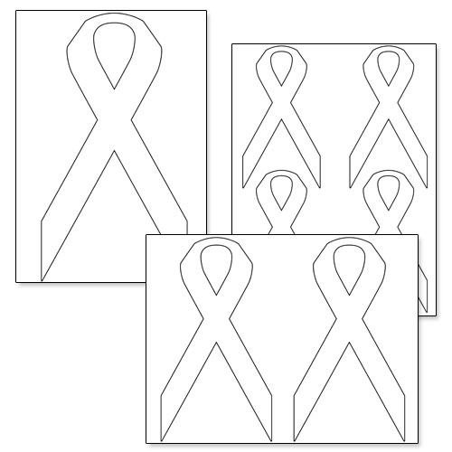 Printable Awareness Ribbon Template \u2014 Printable Treats
