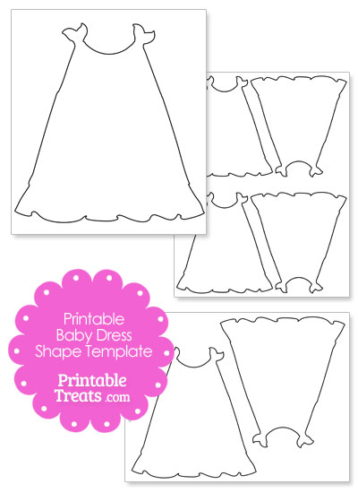 Printable Baby Dress Shape Template \u2014 Printable Treats