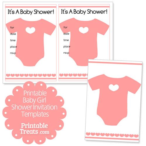 Free Printable Baby Girl Shower Invitation Templates \u2014 Printable