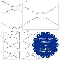 Printable Bow Tie Shape Template  Printable Treats.com