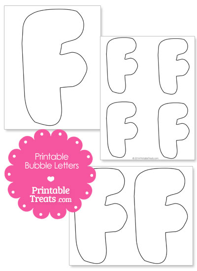 Printable Bubble Letter F Template \u2014 Printable Treats