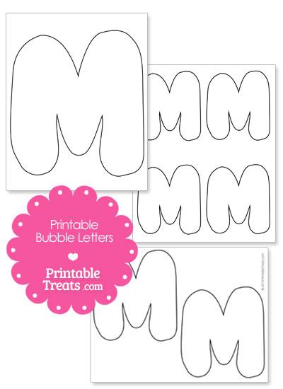printable bubble letter m template 2014 printable treats large printable bubble letters