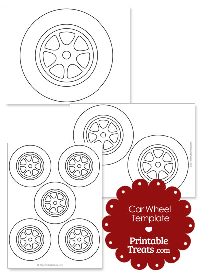 Printable Car Wheel Template \u2014 Printable Treats