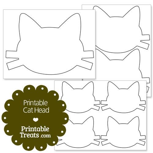 Printable Cat Head \u2014 Printable Treats