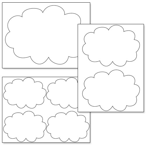 Printable Cloud Cutouts \u2014 Printable Treats