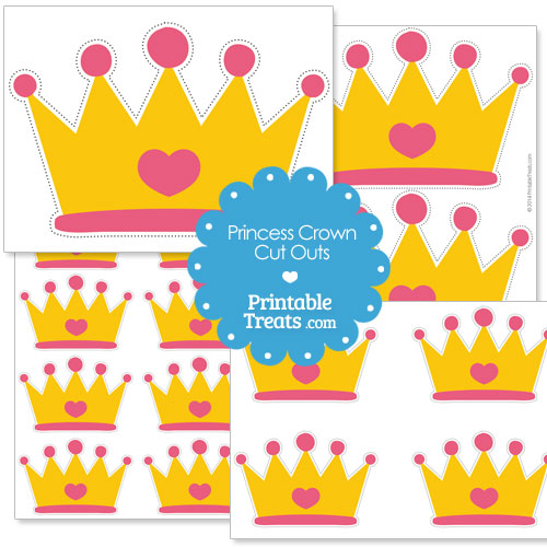 Printable Cut Out Princess Crown \u2014 Printable Treats