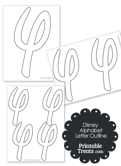 printable letter outlines