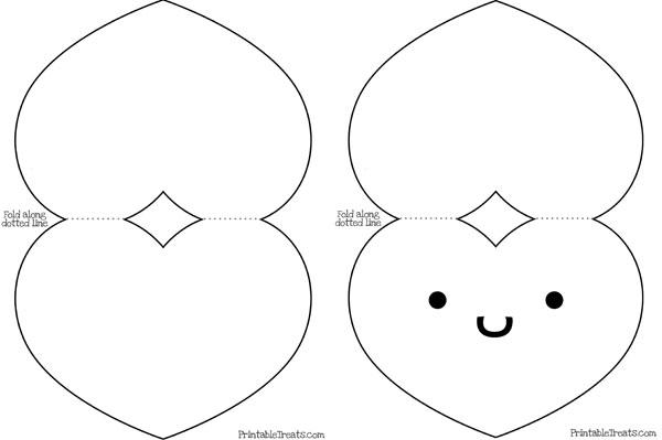 Printable Heart Card Template \u2014 Printable Treats - template for cards