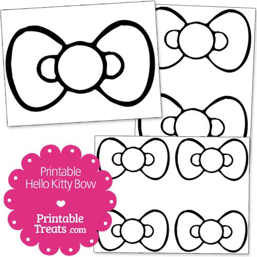 Free Printable Hello Kitty Bow \u2014 Printable Treats