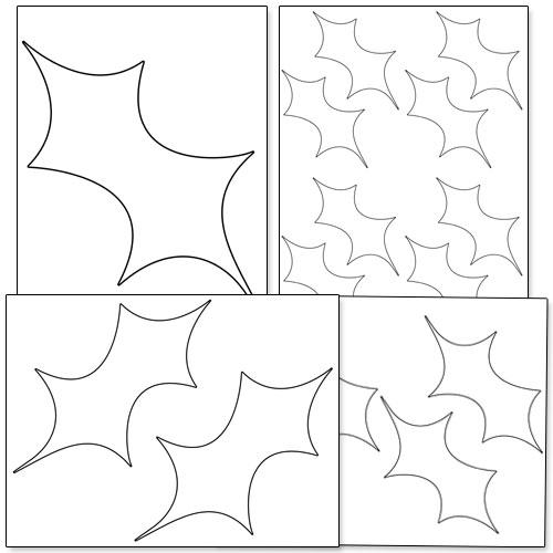 Printable Holly Leaf Template \u2014 Printable Treats - leaf template
