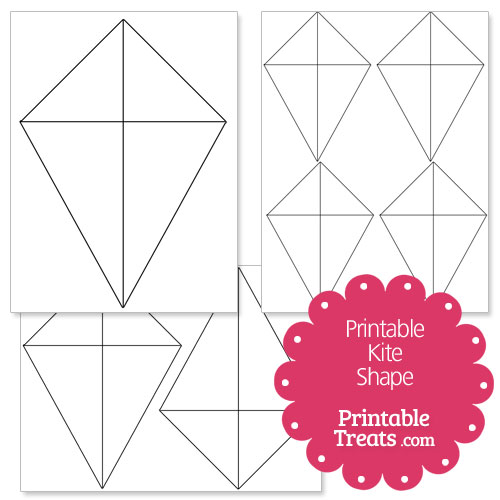 Printable Kite Shape Template \u2014 Printable Treats