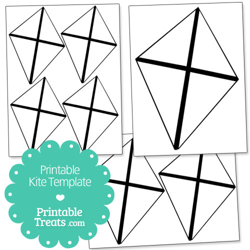 Printable Kite Template \u2014 Printable Treats - kite template