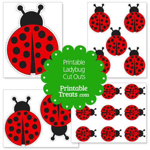 Printable Ladybug Cut Outs \u2014 Printable Treats