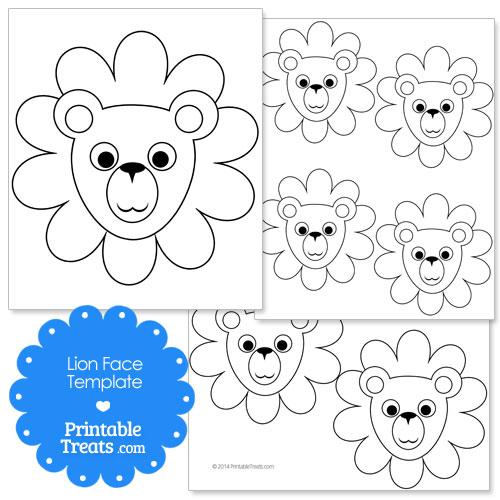 Printable Lion Face Template \u2014 Printable Treats - face template printable