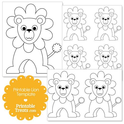 Printable Lion Template \u2014 Printable Treats