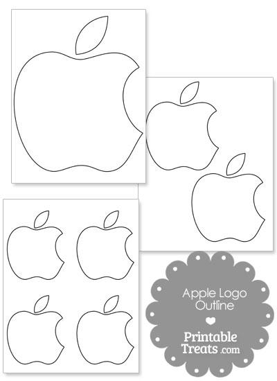 Printable Mac Apple Logo Outline \u2014 Printable Treats