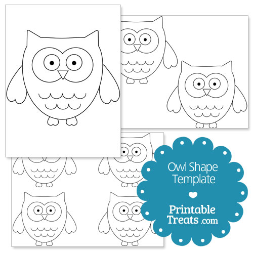 Printable Owl Shape Template \u2014 Printable Treats