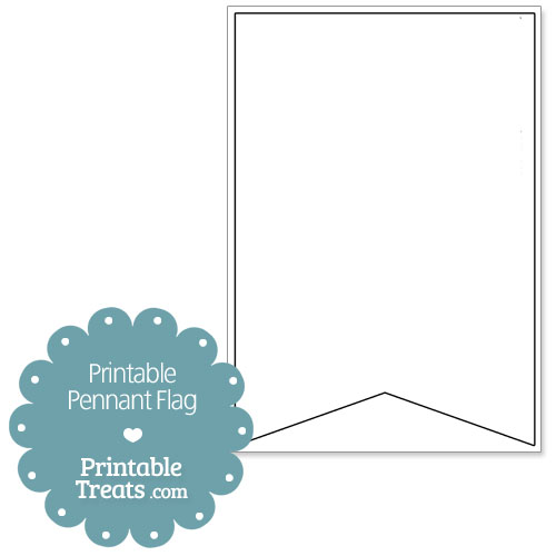 Printable Pennant Flags \u2014 Printable Treats