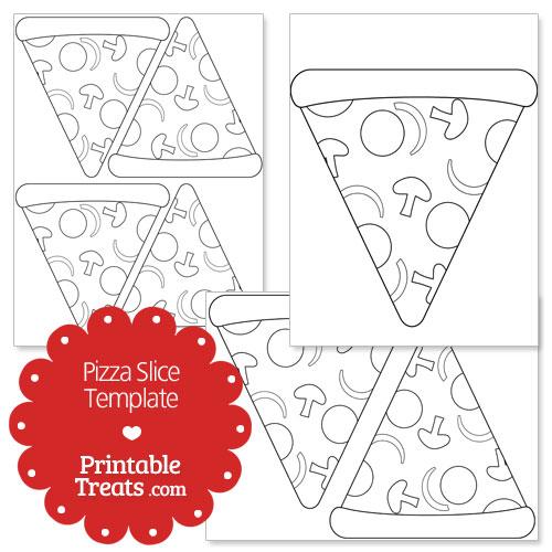 Printable Pizza Slice Shape Template \u2014 Printable Treats