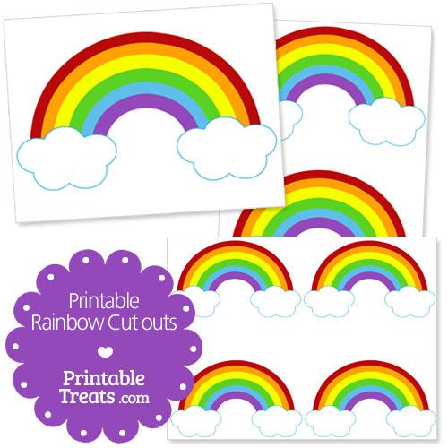 Printable Rainbow Cutouts \u2014 Printable Treats