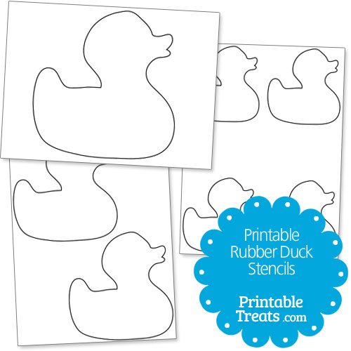 Printable Rubber Duck Stencils \u2014 Printable Treats
