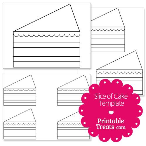 Printable Slice of Cake Shape Template \u2014 Printable Treats