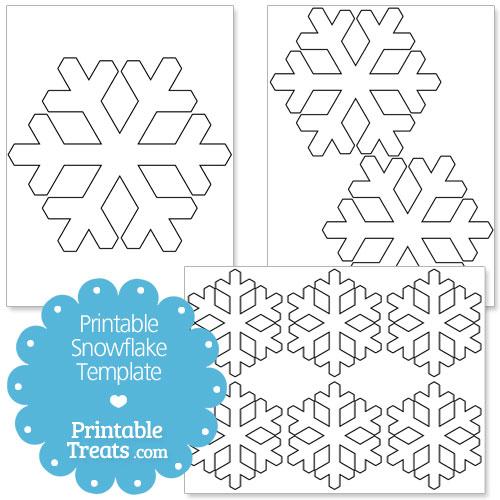 Printable Snowflake Templates \u2014 Printable Treats