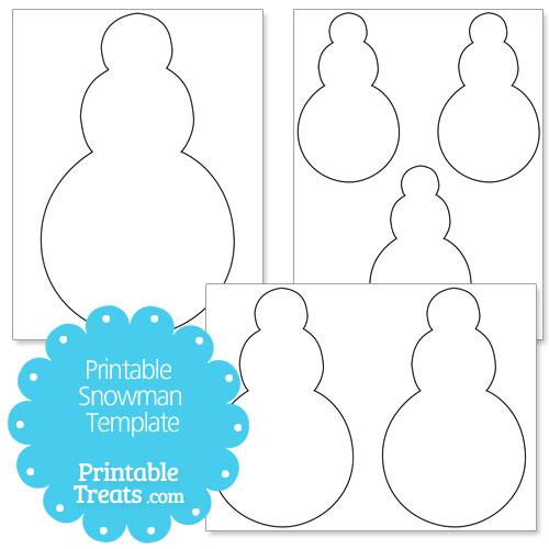 Printable Snowman Template \u2014 Printable Treats