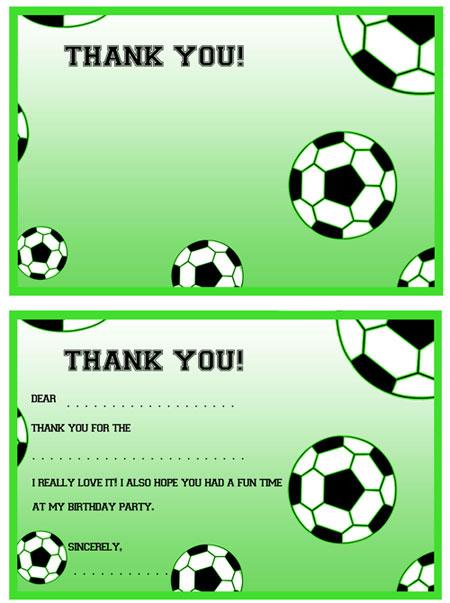 Printable Soccer Thank You Notes \u2014 Printable Treats