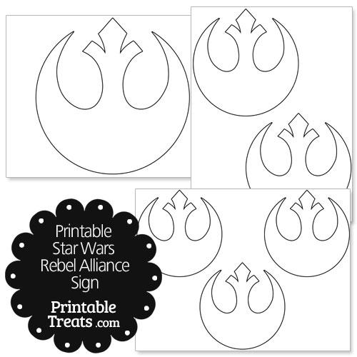 Printable Star Wars Rebel Alliance Sign \u2014 Printable Treats