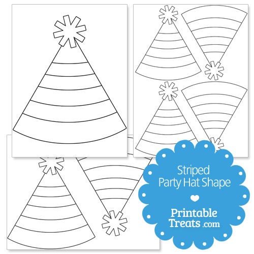 Party hat template printable 7620012 - hitori49info