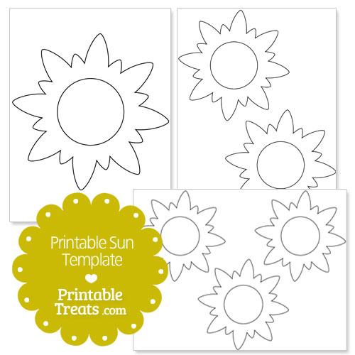 Printable Sun Template \u2014 Printable Treats