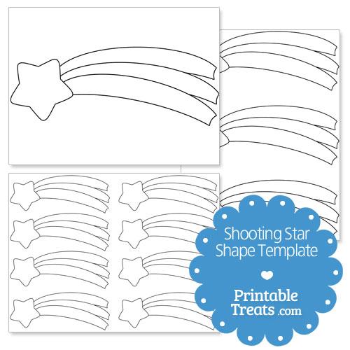 Shooting Star Shape Template \u2014 Printable Treats - stars template