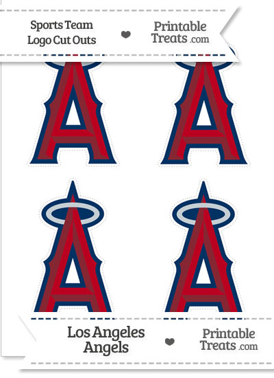 Small Los Angeles Angels Logo Cut Outs \u2014 Printable Treats