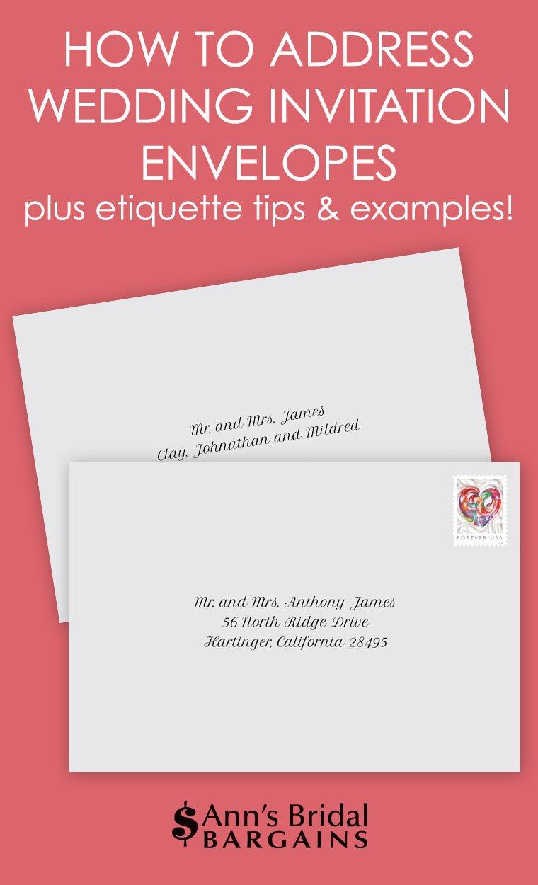 How To Address Wedding Invitation Envelopes Ann39s Bridal