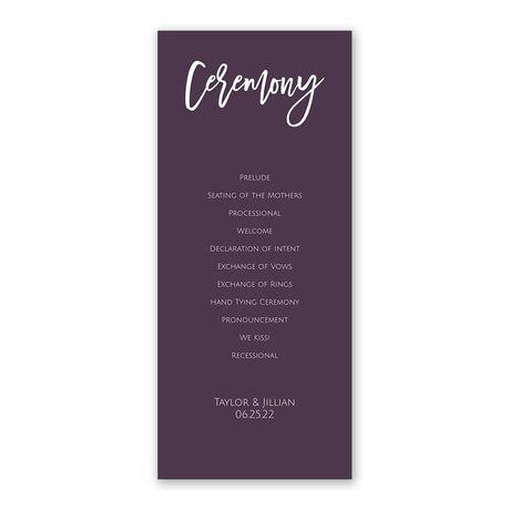 A Simple Ceremony Wedding Program Ann\u0027s Bridal Bargains