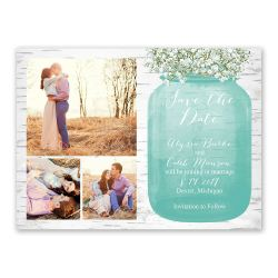 Decent Breath Save Date Card Babys Breath Save Date Card Bridal Bargains Inexpensive Save Dates Inexpensive Save Date Cards