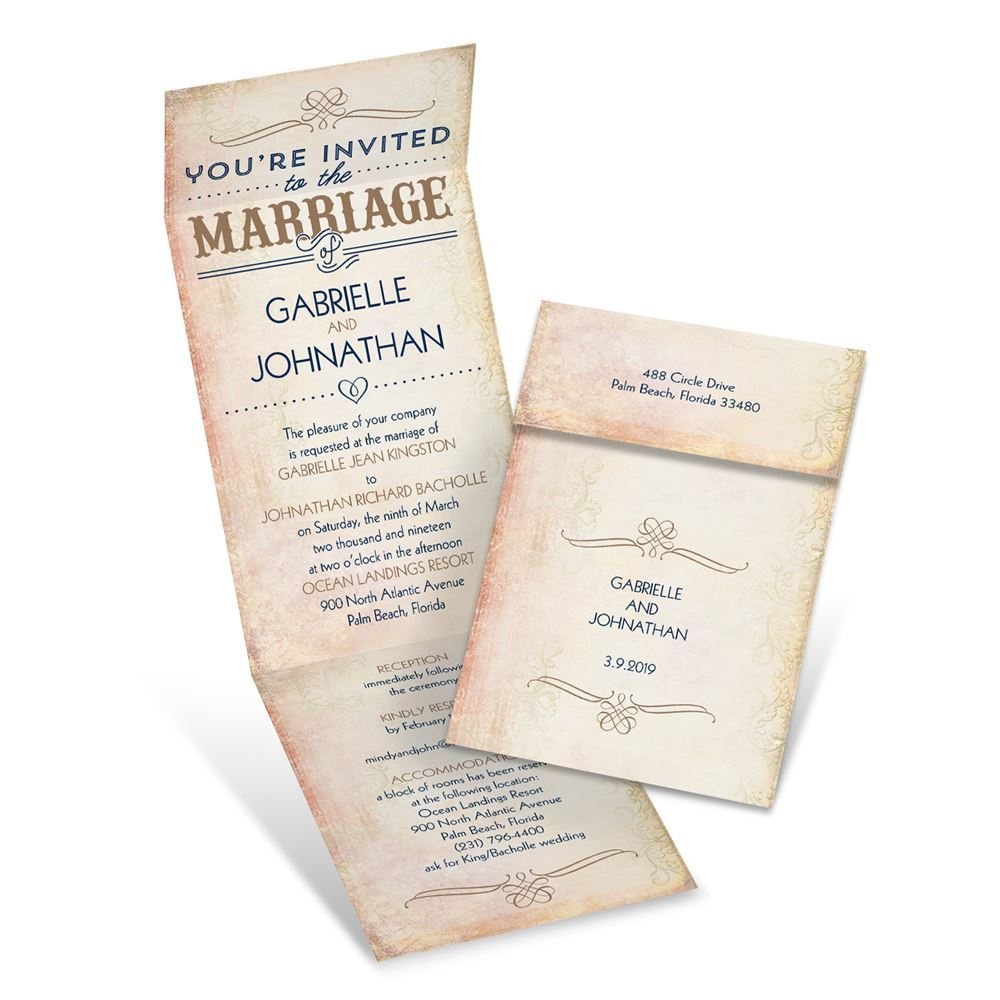 Western Elegance Invitation With Online Reply Ann39s