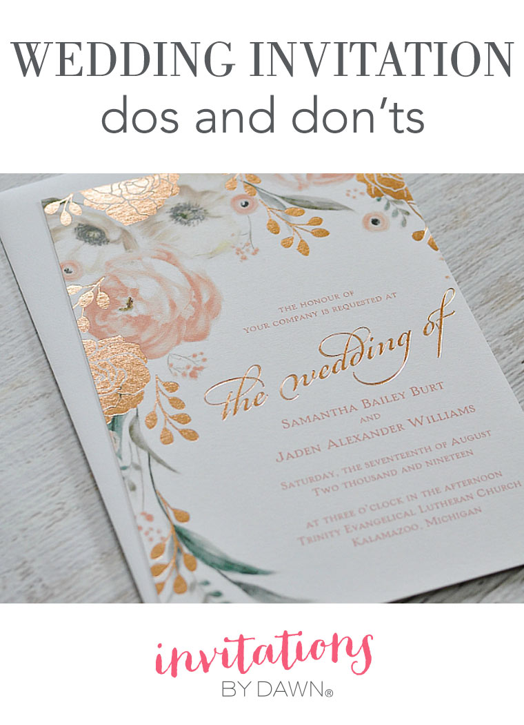 Wedding Invitation Dos And Donts Invitations By Dawn