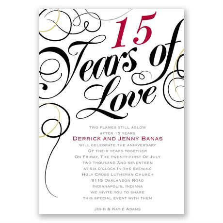 Years of Love Anniversary Invitation Invitations By Dawn