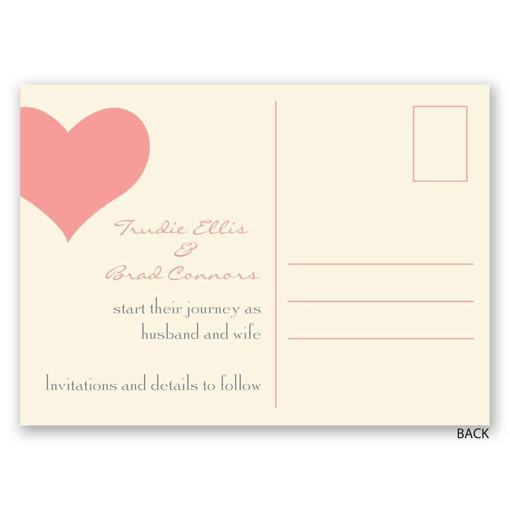 Intriguing Postcard Stamp Heart Web Ecru Save Date Postcard Heart Web Save Date Postcard Invitations By Dawn Back Postcard Requirements Back inspiration Back Of Postcard