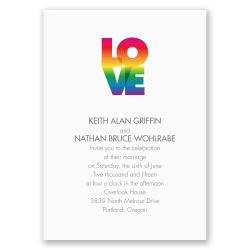 Winsome Wedding Rainbow Love Invitation Wedding Invitation Invitations By Dawn Wedding Invitations Online Wedding Invitations Fonts