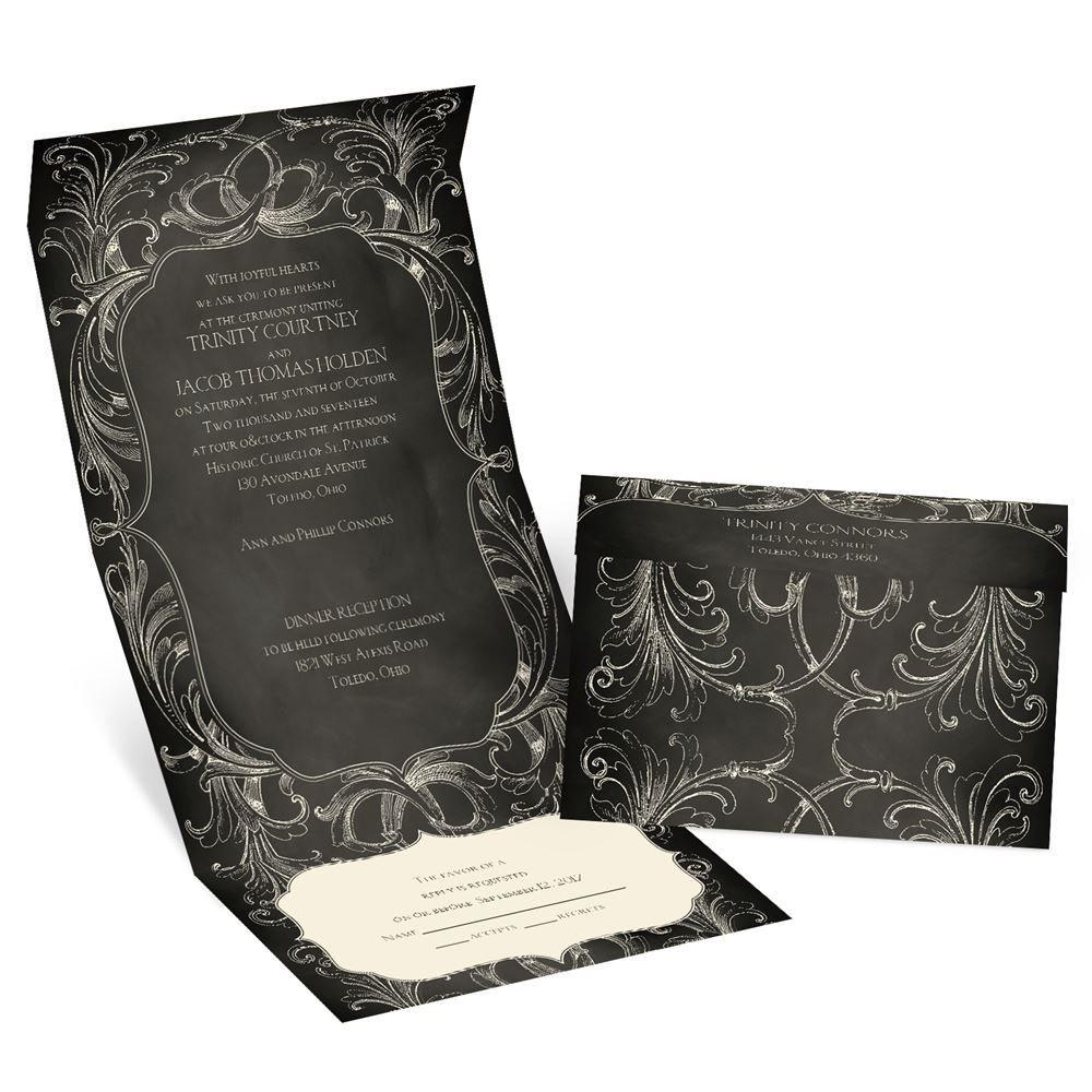 cheap wedding invitations cheap wedding invites Chalkboard Beauty Seal and Send Invitation