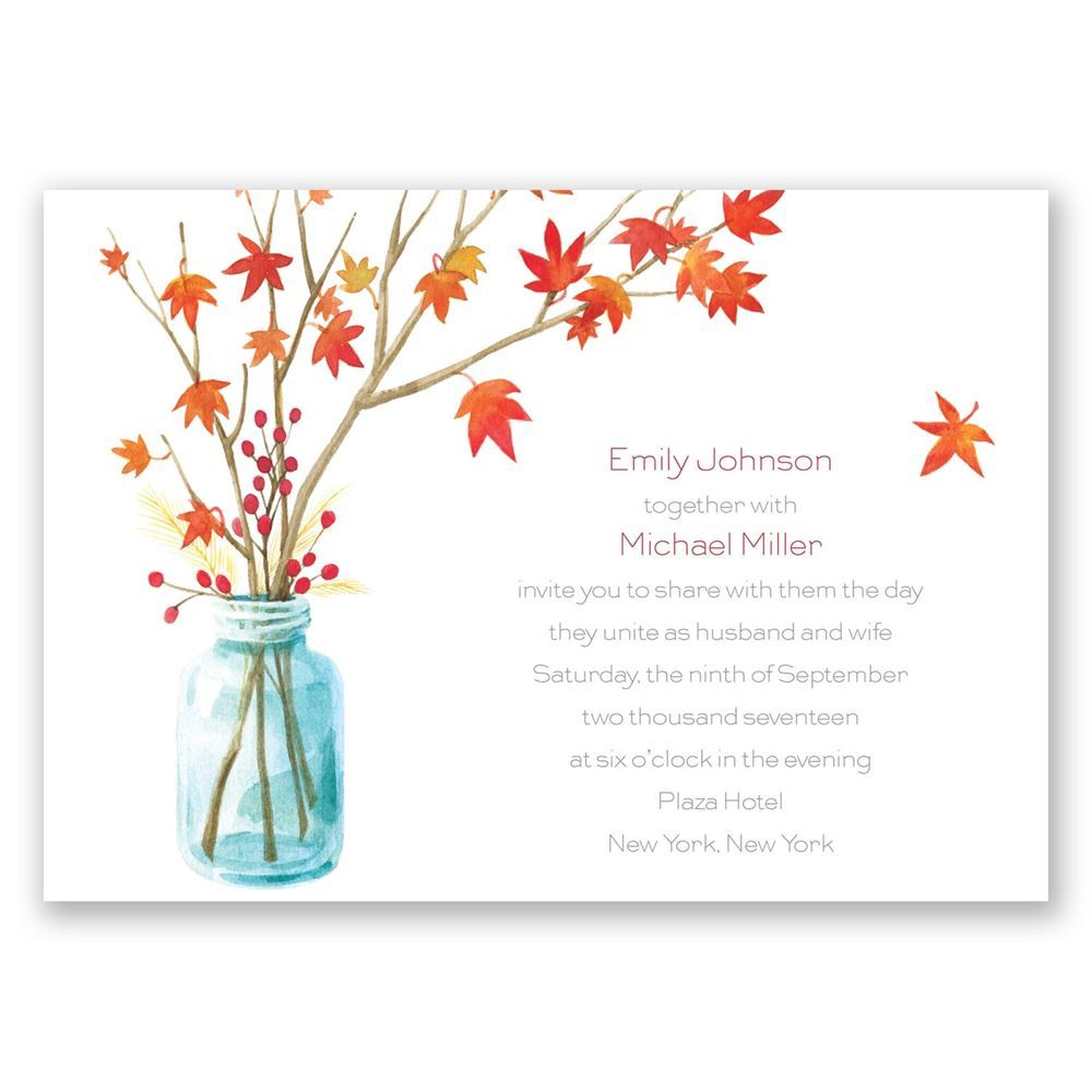 Autumn Arrangement Invitation Invitations By Dawn