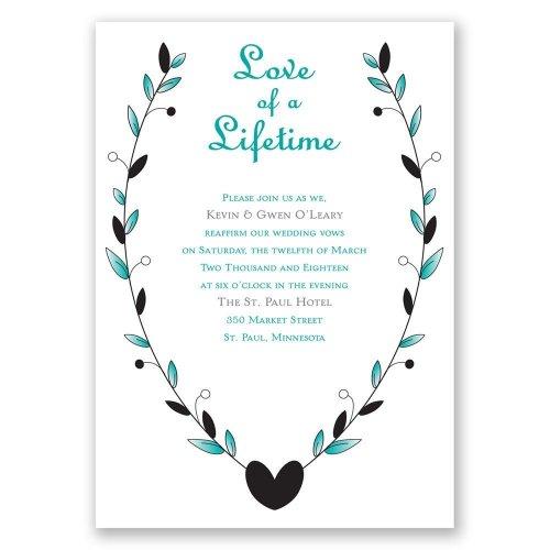 Inspirational Dw31932nfc Love A Lifetime Vow Renewal Invitation Vow Renewal Invitations Wording Vow Renewal Invitations Templates